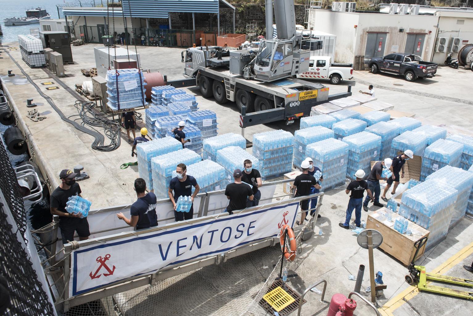 Les Forces Armées aux Antilles en renfort àSaint-Vincent-Et-Les-Grenadinesaprès l'éruption de la Soufrière