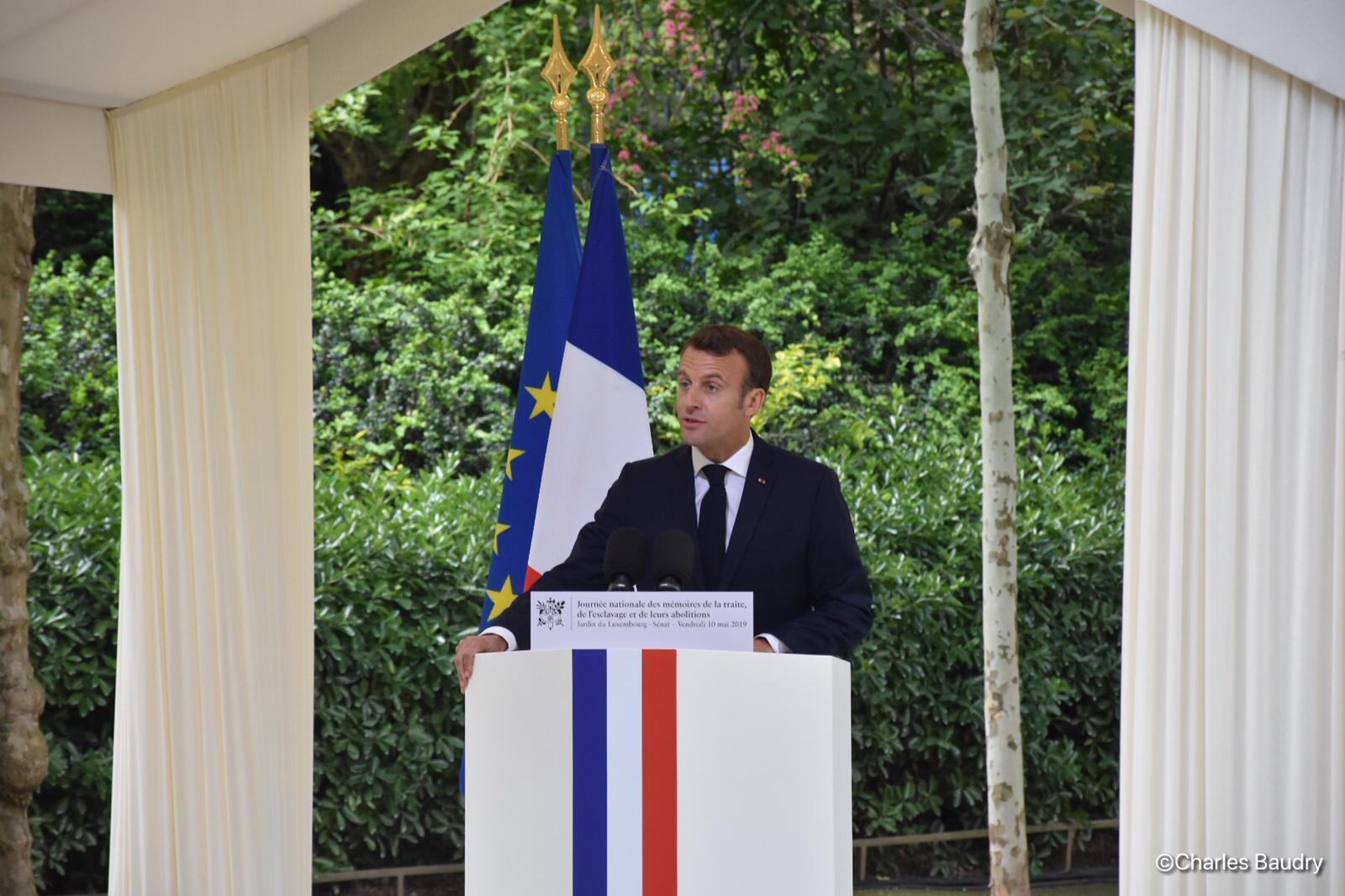 EXCLU. 10 mai : Emmanuel Macron au Jardin du Luxembourg pour les 20 ans de la loi Taubira